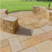 600X600MM INDIAN SANDSTONE FOSSIL            (C) 01005001