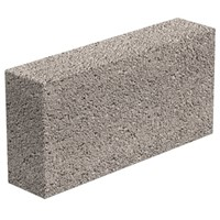 SQ M  DENSE AGG BLOCK SOLID  7N  100MM COL/DEL