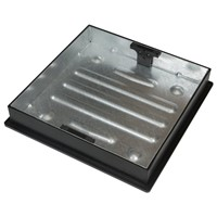 GALVANISED MANHOLE C&F BLOCK PAVING SQ/ROUND 450X450 CLKS450SR