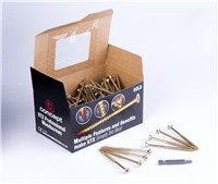 KTX Gold is an internal woodscrew available in a range of sizes that fits in less than half the time of a normal woodscrew and provides a super smooth finish in timber. KTX bits accompany all boxes and tubs for free. They are 50mm in length which makes them ideal for use in impact drivers as well as drill/drivers.